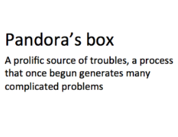 Pandora's box, algorithms and the future of work and jobs.
